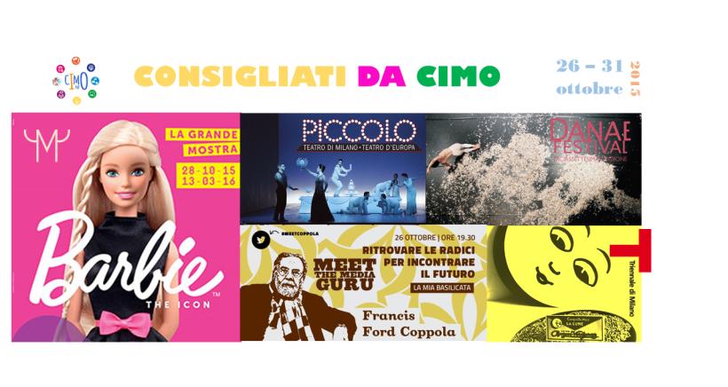 Eventi consigliati da CIMO nella settimana dal 26 al 31 ottobre 2015