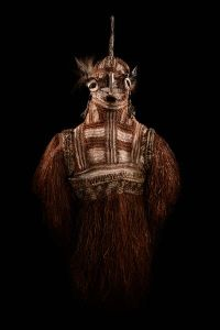 MUDEC collezione permanente. Grande maschera per rito funebre. Papua Nuova Guinea. photo by Filippo Piantanida