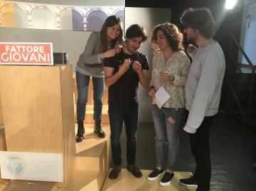 Il team di Fattore Giovani: Valentina, Valerio, Alessia e Matteo